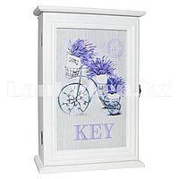 Деревянная настенная ключница Велосипед шкатулка для ключей