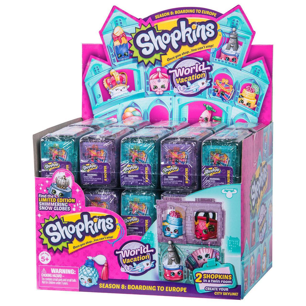 """Shopkins, Шопкинс (8 сезон) """"Европа"""" 2 игрушки в упаковке - фото 1"""