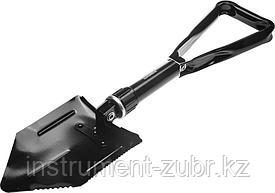 Лопата складная, саперная, металлическая ручка, GRINDA