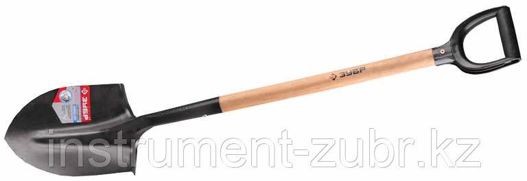 """Лопата """"ЗАВИДОВО"""" штыковая для земляных работ, деревянный черенок, с рукояткой, ЗУБР"""
