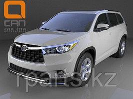 Защита переднего бампера Toyota Highlander (2013-)