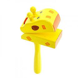 """Деревянная игрушка стучалка """"Жираф"""""""