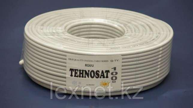 Коаксиальный кабель RG6 (РК-75) Tehnosat 48% 100м/б, фото 2