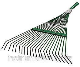 Грабли веерные RACO усиленные, 22 плоских зубца, эпоксидное покр., 550мм