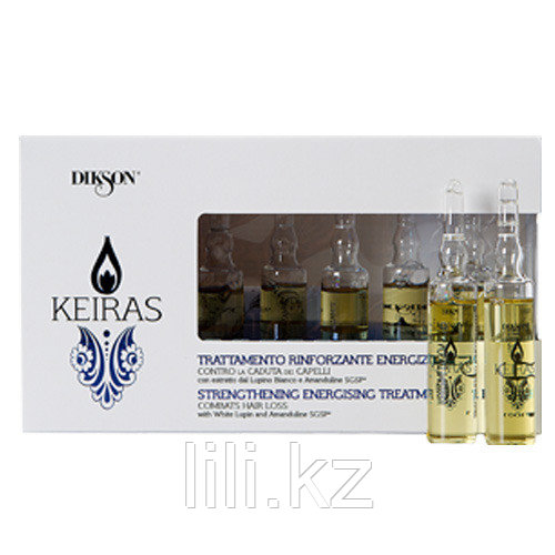 Ампулы от выпадения волос Dikson Keiras Trattamento Rinforzante Energizzante 8*10 мл.