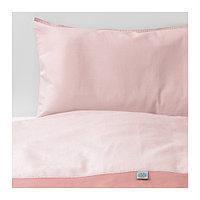 Пододеяльник, наволочка д/кроватки ТИЛЛГИВЕН розовый ИКЕА, IKEA, фото 1