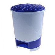 Ведро для мусора с педалью 10 л (голубой), М1380