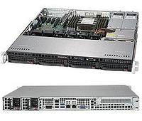 Сервер Rack 1U,1xXeon Scalable LGA3647, 8xDDR4 LRDIMM 2666, 4x3.5HDD, RAID 0,1,10,5, 2x10Gbe, 2x400W