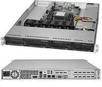 Сервер Rack 1U, 1xXeon Scalable LGA3647, 6xDDR4 LRDIMM 2666, 4x3.5HDD, RAID 0,1,10,5, 2x10Gbe, 600W