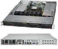 Сервер Rack 1U,1xXeon Scalable LGA3647, 6xDDR4 LRDIMM 2666, 4x3.5HDD, RAID 0,1,10,5, 2x10Gbe, 2x500W