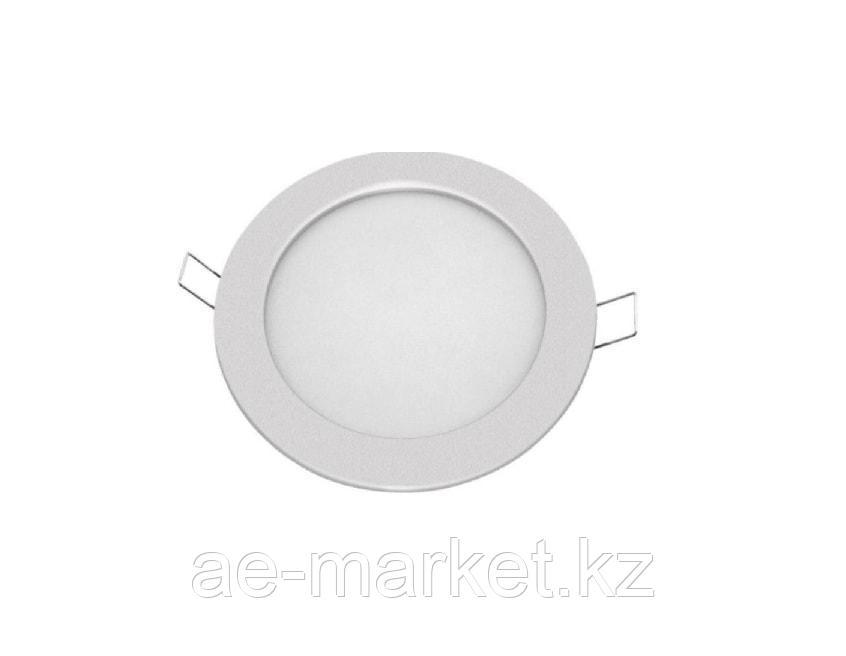 LED Спот панель круг. встр. 12w d172x24 сереб. (71 379)