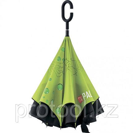 Зонт-трость обратного сложения, эргономичная рукоятка с покрытием Soft Touch// PALISAD, фото 2