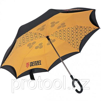 Зонт-трость обратного сложения, эргономичная рукоятка с покрытием Soft Touch// DENZEL, фото 2