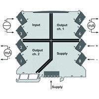 Дубликатор/изолятор сигнала, Вход : 4-20 mA, Выход : 2 x 4-20 mA ACT20M-CI-2CO-S, фото 2