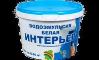 """Краска в/эмульсионная белая """"Интерьер"""" 14 кг. //РАДУГА"""