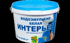 """Краска в/эмульсионная белая """"Интерьер"""" 10 кг. //РАДУГА"""