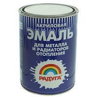 Эмаль для металла и радиаторов, белая 1л.//РАДУГА-178