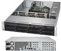 Сервер Rack 2U, 1xXeon Scalable LGA3647, 6xDDR4 LRDIMM 2666, 8x3.5HDD, RAID SATA, 2x10Gbe, 2x500W