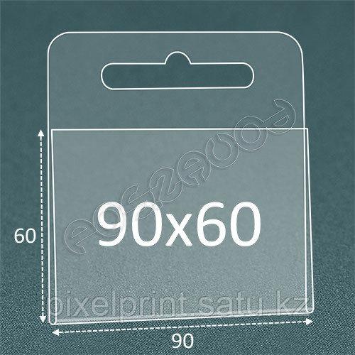 Ценникодержатель (держатель ценника) на крючок 90х60 мм