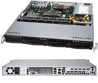 Сервер Rack 1U, 2xXeon Scalable LGA3647, 8xDDR4 LRDIMM 2666, 4x3.5HDD, RAID 0,1,10,5, 2xGLAN, 500W