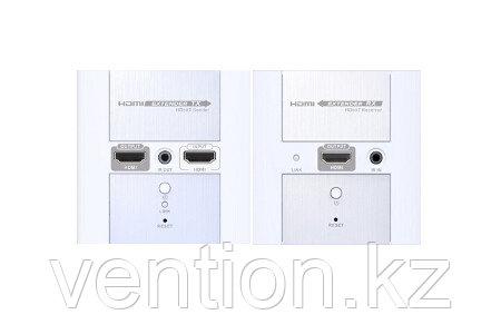 LenKeng LKV383W-ES (удлинитель HDMI, 120м, UTP, в корпусе настенной розетки, активный, комплект
