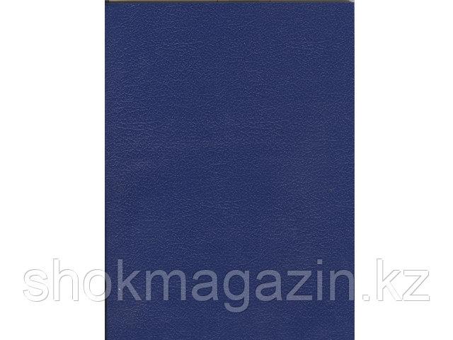 Тетрадь общая А4, 96 листов обложка бумвинил синяя