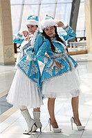 Костюм снегурочки, с казахским орнаментом.