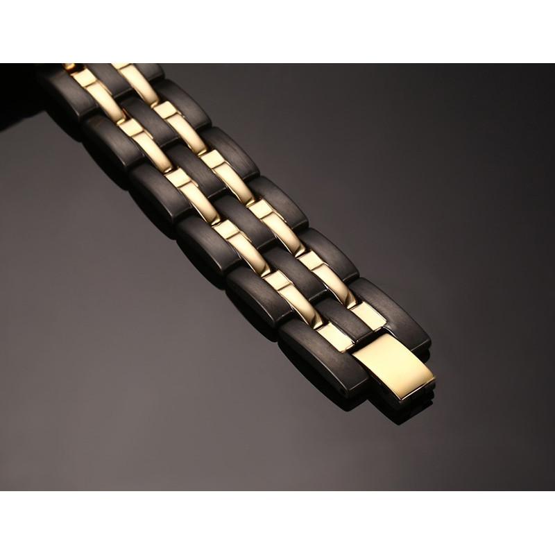 Магнитный браслет N38 - Вставка 4/1 :магнит,германий,инфракрасные лучи,отрицательные ионы.