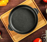 """Сковорода чугунная """"Хорека"""", порционная, с дощечкой, BRIZOLL, 16 х 2,5 см, фото 1"""