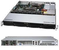 Сервер Rack 1U, 2xXeon Scalable LGA3647, 8xDDR4 LRDIMM 2666, 4x3.5HDD, RAID 0,1,10,5, 2xGLAN, 2x600W