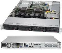 Сервер Rack 1U, 2xXeon Scalable LGA3647, 12xDDR4 LRDIMM 2666, 4x3.5HDD, RAID 0,1,10,5, 2xGLAN, 600W