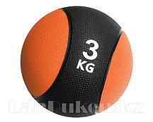 Медбол 3 кг черно-оранжевый