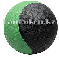 Медбол 2 кг черно-зеленый