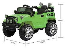 Детский электромобиль Jeep Wrangler с пультом ДУ (зеленый)