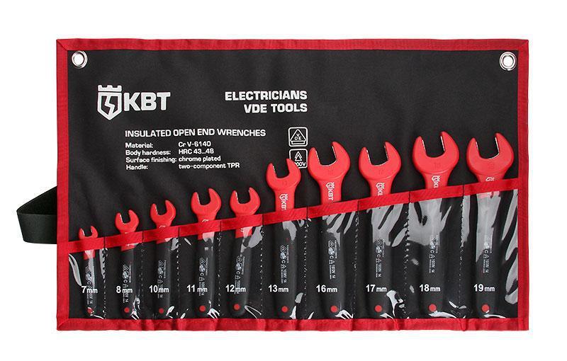 Набор однорожковых диэлектрических ключей, 10 штук ™КВТ