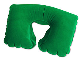 Надувная подушка для шеи зеленая
