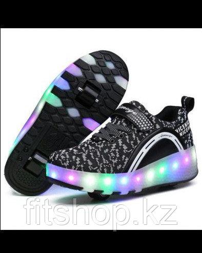 Роликовые кроссовки со светящейся подошвой - фото 3