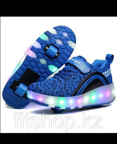Роликовые кроссовки со светящейся подошвой - фото 2