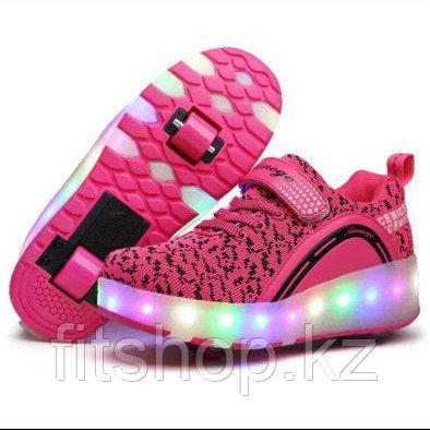 Роликовые кроссовки со светящейся подошвой - фото 1