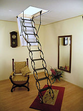 Чердачная лестница ножничная Oman 60х70х290см  тел.Whats Upp. +7 707 570 5151