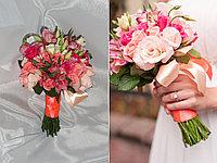Букет невесты из роз розовый