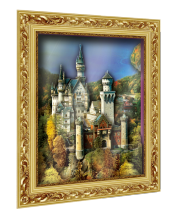 """Объемный постер """"Замок Нойшванштайн"""""""