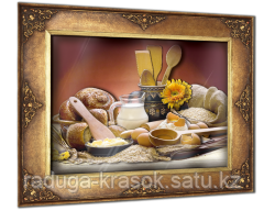 """Объемный постер """"Завтрак в деревне"""""""