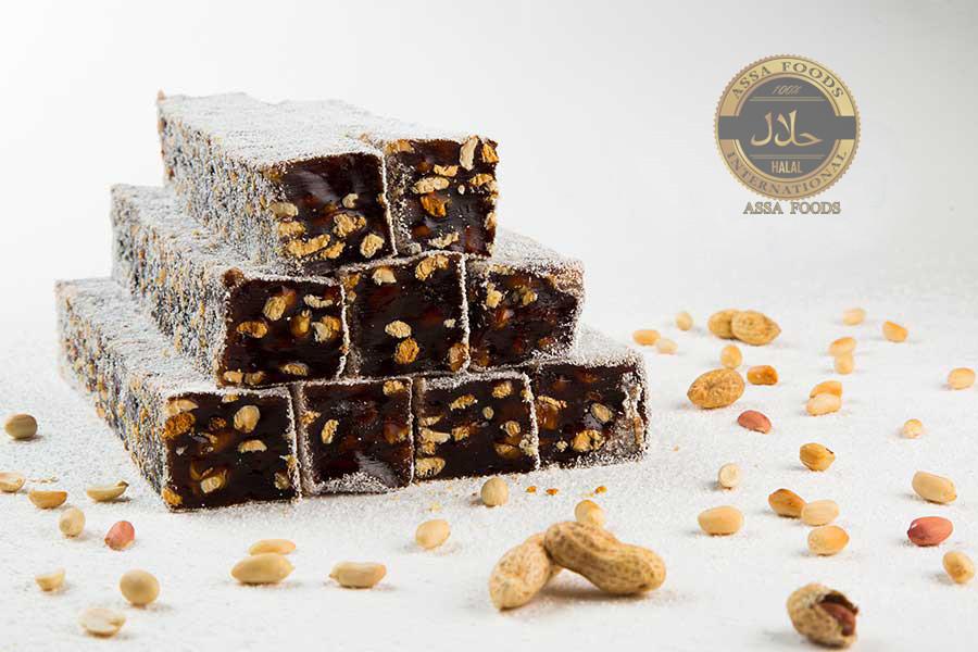 Брусковый лукум «Гарем» шоколадный с арахисом
