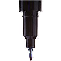 Маркер перманентный двухсторонний синий, пулевидный, 0,5-1мм, фото 2