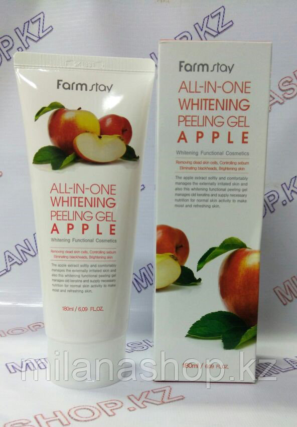 Farm Stay All-In-One Whitening Peeling Gel Cream Apple - Пилинг Гель для лица на основе Яблока