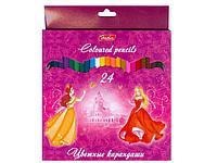 """Карандаши цветные """"Принцесса"""" 24 цвета"""