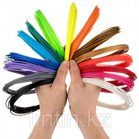 Набор 20 цветов по 10 метров, PLA пластик для 3D ручек, 200 метров