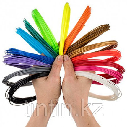 Набор 10 цветов по 10 метров, PLA пластик для 3D ручек, 100 метров, фото 2