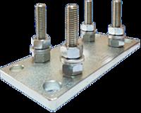 AP 65. Регулировочная пластина для крепления малой каретки фурнитура для откатных ворот, DEA - Италия